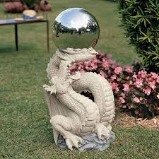 Garden Gazing Globe Shop Design Toscano Sir Sagremor U0027s Dragon With Gazing Orb 30 In