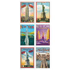 cavallini postcards new york glitter greetings postcards from cavallini co