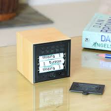 click clock cube by gingko in the design shop