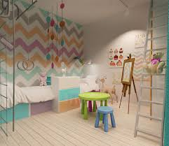 chevron stripe wallpaper interior design ideas