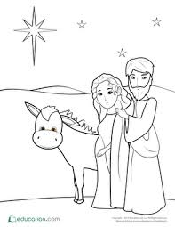 nativity coloring sheets nativity coloring pages education com