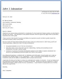 Investment Banking Resume Sample by Effective Investment Banker Cover Letter Sample Vinodomia