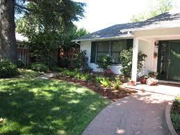 simple front yard landscaping ideas with nice pathway laredoreads