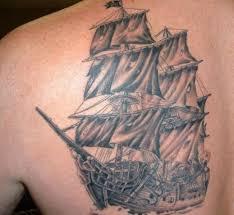 ship back tattoo designs