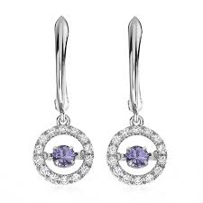 white topaz earrings tanzanite white topaz dangle earrings in sterling silver