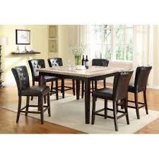 Espresso Dining Room Furniture Counter Height Dining Table Contemporary Montreal Dark Espresso