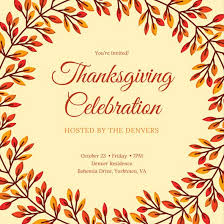 thanksgiving invitation templates cornucopia thanksgiving