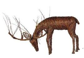 grapevine deer decor commercial supply