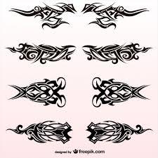 tribal tattoos design vector set vector free vector in