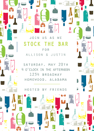 stock the bar party arrangement stock the bar engagement party invitation wording