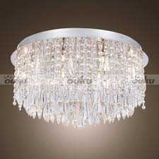chandeliers candice chrome and crystal semi flush mount