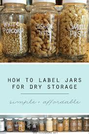 label jars for pantry storage clean
