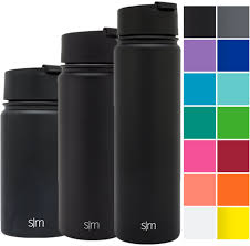simple modern 22oz vacuum insulated stainless steel water bottle