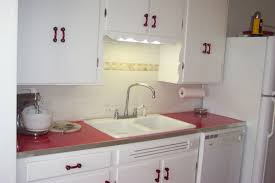Vintage Kitchen Cabinet Small Kitchen Decoration Using Red Retro Kitchen Countertops