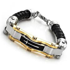 bracelet gold black images Gold bracelet for men eternity jewelry jpg