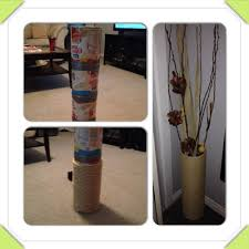 Safari Bathroom Ideas Diy Floor Vase Cut The Bottom From 4 Coffee Cans Duct Tape