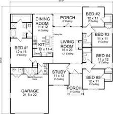 house plans 2000 square feet 5 bedrooms craftsman style house plans 1988 square foot home 1 story 5