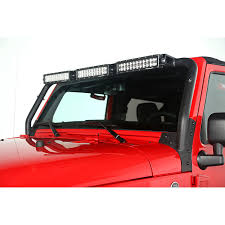 led light bar jeep wrangler rugged ridge 11232 25 windshield led light bar 07 15 jeep wrangler