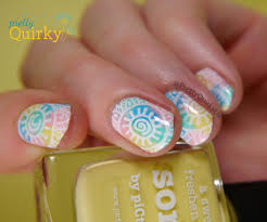 rainbow nails sponge and stamping nail art tutorial youtube