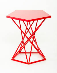 Accent Side Table Demi Geometric Side Table Brickell Collection Modern