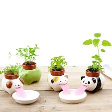 self watering plants animal drinking flower pot cute animal tongue flower pot and