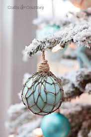 faux glass floats coastal diy ornament