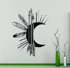online buy wholesale native american wall mural from china native dsu arrows moon creative wall mural art design special wall sticker native american wall declas vinyl