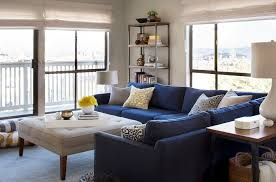 Navy Sectional Sofa Glorious Contemporary Blue Velvet Sectional Sofa Decorating Ideas