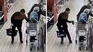 siege social aldi moment thief snatches purse from 87 year in aldi as