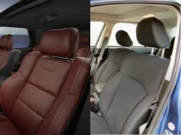 Car Interior Upholstery Fabric Comparison Leather Car Interior Vs Cloth Car Interior