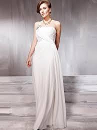 marvelous white one shoulder rhinestone long lace chiffon evening