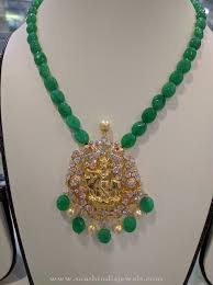 gold bead pendant necklace images Gold emerald beads necklace necklace designs gold necklaces and jpg