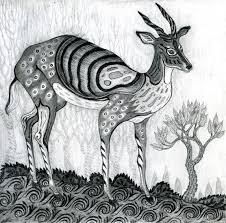 of janet kozachek decorative pencil drawings deer loversiq