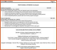 Supervisor Job Resume by Customer Service Call Center Skills Resume Ecordura Com
