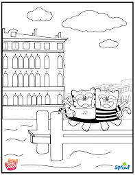 Venice Coloring Page The Ollie And Moon Show Universal Kids Sprout Coloring Pages