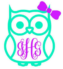 monogram decals owl monogram decal southern grace creations