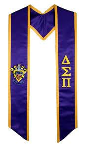 cheap graduation stoles delta sigma pi fraternity sorority graduation stole