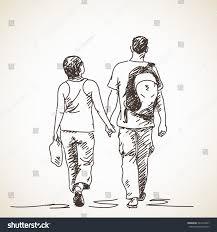 couple love vector sketch hand drawn stock vector 243574447