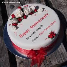 51 Happy Marriage Anniversary Whatsapp Writing Custom Name Text On Happy Marriage Anniversary Cake Photo