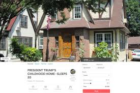 now you can stay at donald trump u0027s childhood home