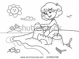 colouring seaside stock photos royalty free images u0026 vectors
