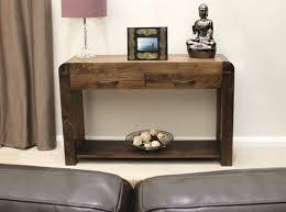 Narrow Hallway Furniture by Baumhaus Shiro Walnut Console Table Amazon Co Uk Kitchen U0026 Home