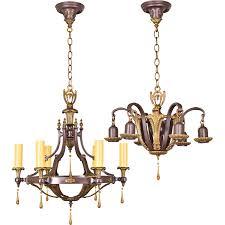 Light Fixtures Chandeliers Pair Ornate Brass Vintage Up And Down Light Fixtures Chandeliers