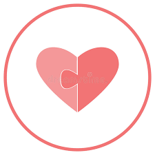 flat icon for website and greeting cards two halves of the