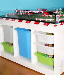 ikea regal kinderzimmer aufsatz für carrerabahn für ikea trofast regale selber bauen