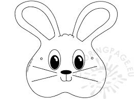 bunny mask animal masks craft bunny mask coloring page