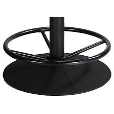bar height table base with foot ring 16 round table base foot rest ring tbfr