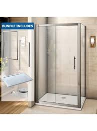 1400 Shower Door Aquaspa Deluxe 1700mm X 700mm Single Sliding Shower Enclosure