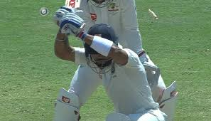 virat kohli clean bowled after being deceived by australian