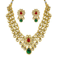 stone necklace sets images Stone necklace set by surat diamond ps 136 necklace sets jpg